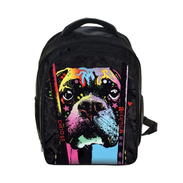 Kids Bulldog Rottweiler Backpack Children School Bags Boys Girls