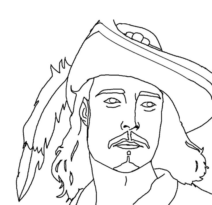 Good Looking Face Jack Pirates Of The Caribbean Coloring