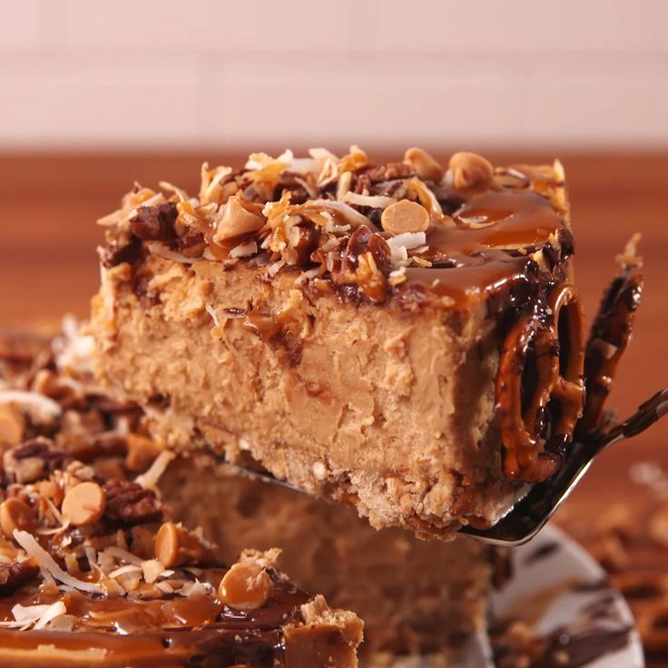 This cheesecake truly is salty sweet at its best.