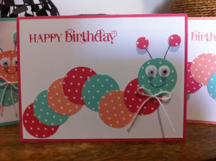 Caterpillar Kids Birthday card