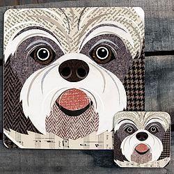 Shih Tzu close up Placemat/Coaster