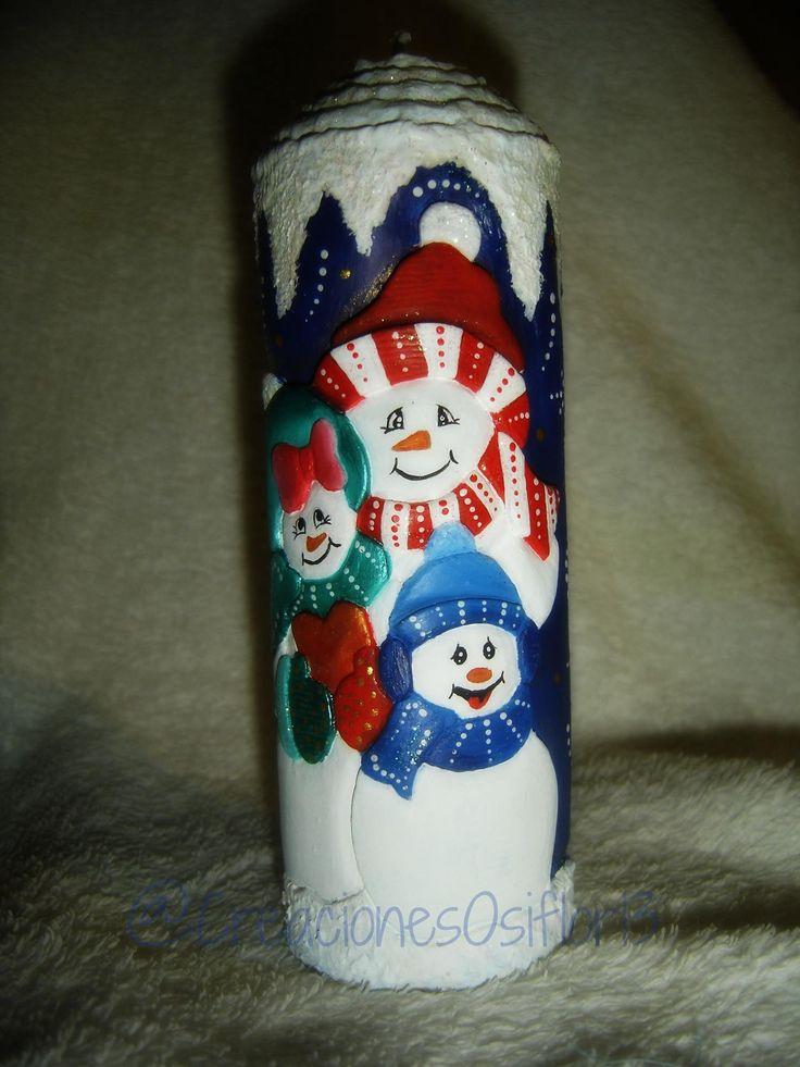 Bonitos muñecos de nieve...
