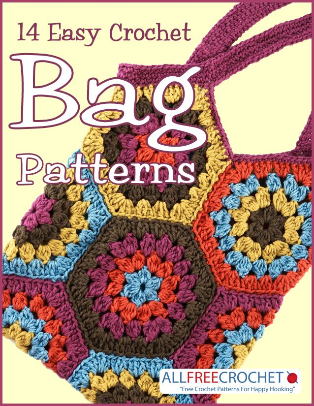 14 Easy Crochet Bag Patterns ༺✿ƬⱤღ http://www.pinterest.com/teretegui/✿༻