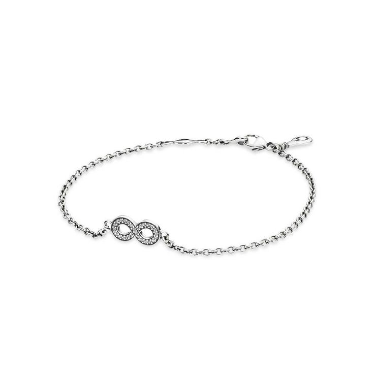 Infinity silver bracelet with cubic zirconia, To Infinity and Beyond!! The PANDORA Symbol of Infinity Bracelet features an Infinity symbol filled with Cubic Zirconia in Sterling Silver. You will love this bracelet times Infinity! Make sure to order yours now!         Designers:Pandora          Metal:Sterling Silver          Release Date:2014 - Pre-Autumn Release          Stone:Cubic Zirconia       , CA$35.98 28% OFF, Buy Now: http://www.pandoracanada2013.com/pandora-starter-bracelet.html
