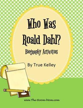 Who Was Roald Dahl? biography activities
