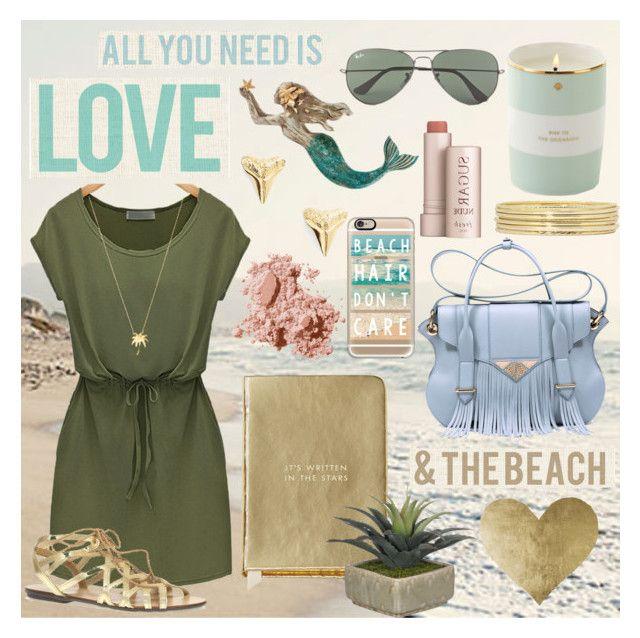 """#3  All you need is love & the beach"" by alzbeta-zlochova ❤ liked on Polyvore featuring Liz Claiborne, Kate Spade, Ella Rabener, Bobbi Brown Cosmetics, ki-ele, Joolz by Martha Calvo, Casetify, Fresh, Ray-Ban and Dorothy Perkins"