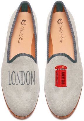 ShopStyle: M'ODA 'OPERANDIDel Toro Del Toro: Prince Albert London | Telephone Booth Slipper Loafers