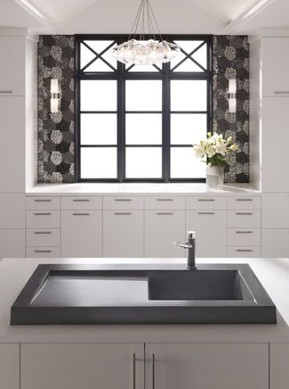Love this sink! Siligranit is my favorite material but also like the overmounted design! Sleek and modern!