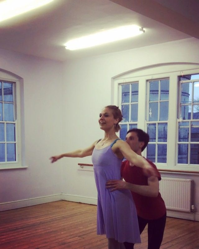 """""""Can we touch the ceiling?"""" #dancers having fun during a #rehearsal #YKBG #ballet #adultballet #oxford #balletlift #lifeofadancer"""