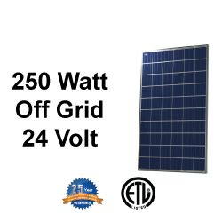 Renogy 250W Polycrystalline Solar Panel is the first step to converting your house to solar. These panels are 24V and are perfect for decreasing your electrical bill, or for a large off-grid system. Whether you want to connect this to the electrical grid, or power your off-grid cabin, Renogy's 250W Polycrystalline Solar Panels will be the key element to your solar system.