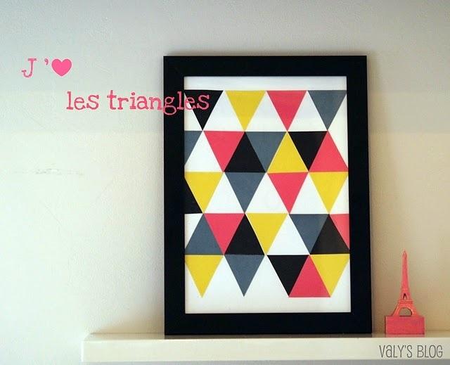 affiche triangles à découper au cutter