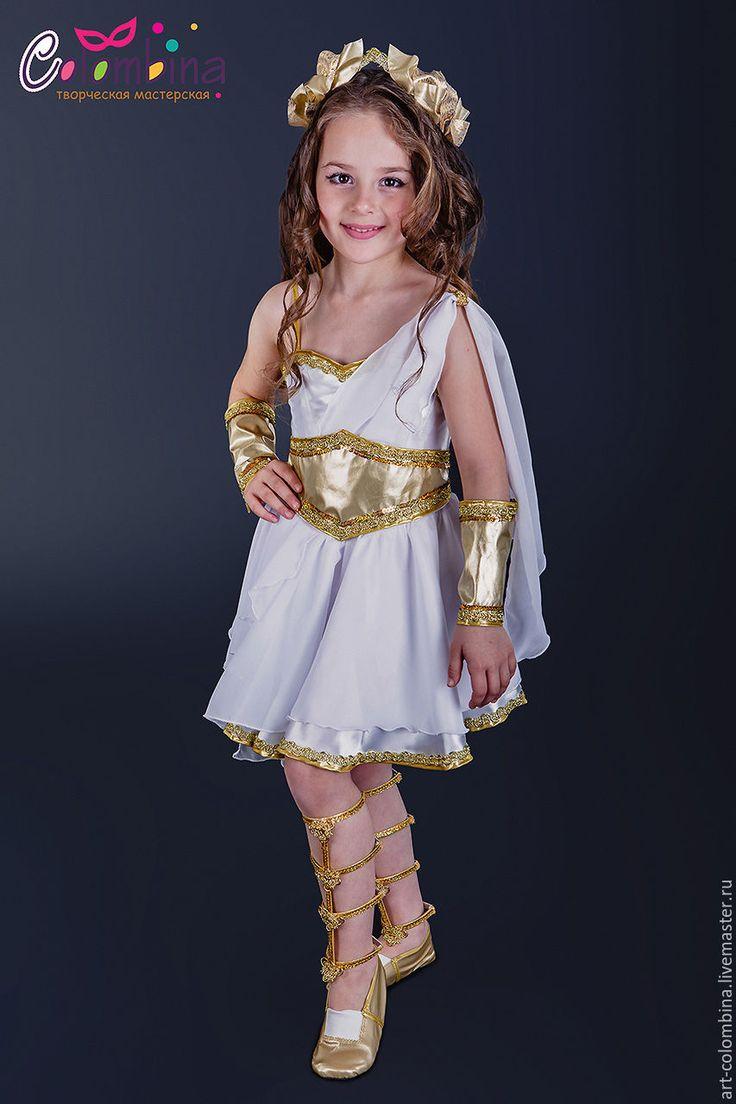 Купить или заказать Костюм греческой богини-147 в интернет-магазине на Ярмарке Мастеров. Карнавальный костюм греческой богини для девочки комплектация: платье, венок, наручи, переплетения на ноги, чешки продаются отдельно 134-146 +300…