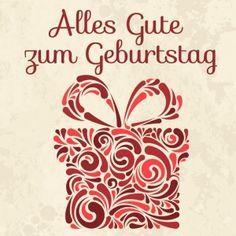 Wish happy birthday in German language.