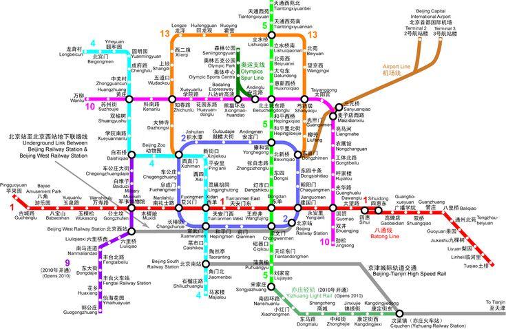 Beijing Subway Map... I will be needing this!