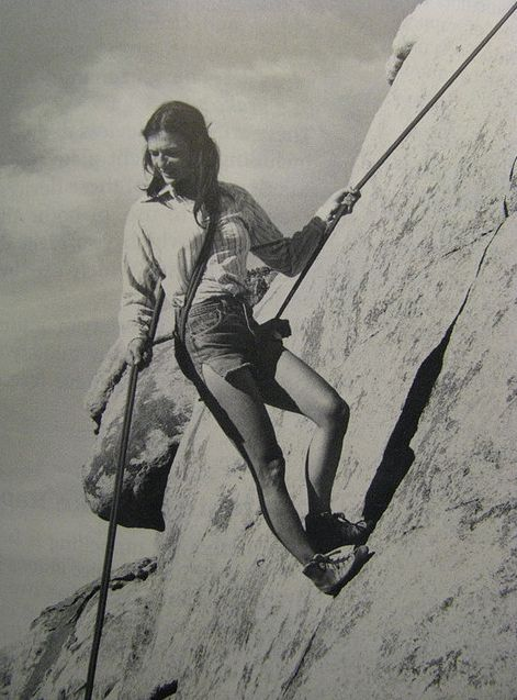 woman, climbing, rock climbing, on beley, rock face, adventure, outdoors, jean shorts, sports, athlete