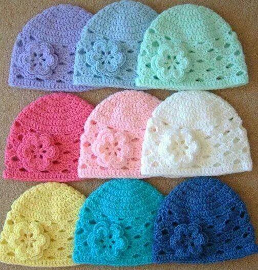 Cappelli cotone ad uncinetto!