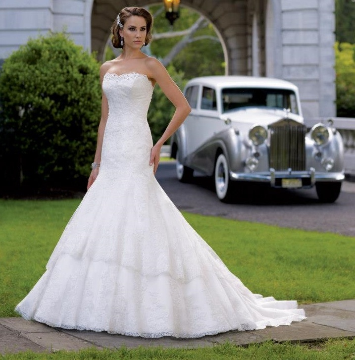 Bridal Dress by David Tutera with lace - 113208