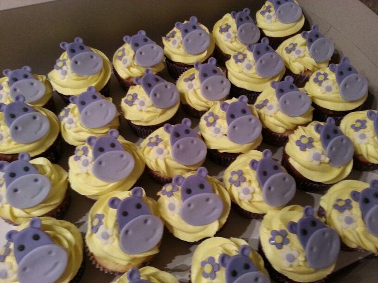 Purple hippo cupcakes by ~Nikki Cakes~