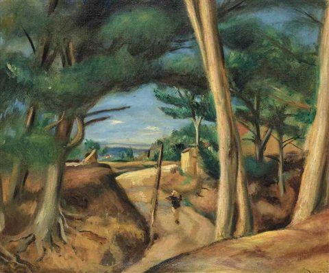 Andre Derain: Chemin animé aux Lecques (1922)
