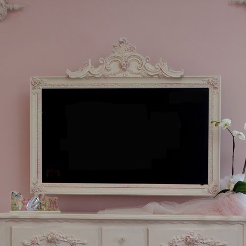 Petite Paris TV Frame- love this for my girls room!
