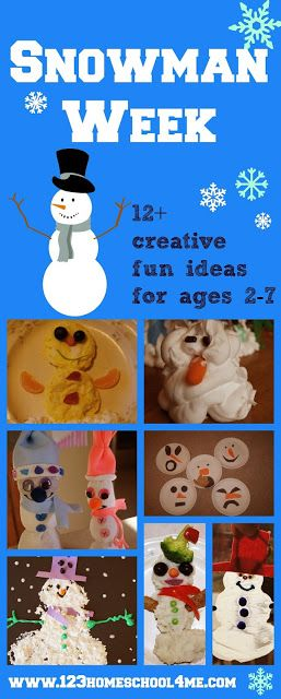 S is for Snowman Week for Preschoolers. Over 12 fun, and creative snowman crafts, snowman activities, snowman worksheets, and snowman snacks for toddlers, preschoolers, kindergartners, and more! Snowmen is the perfect winter unit for kids.