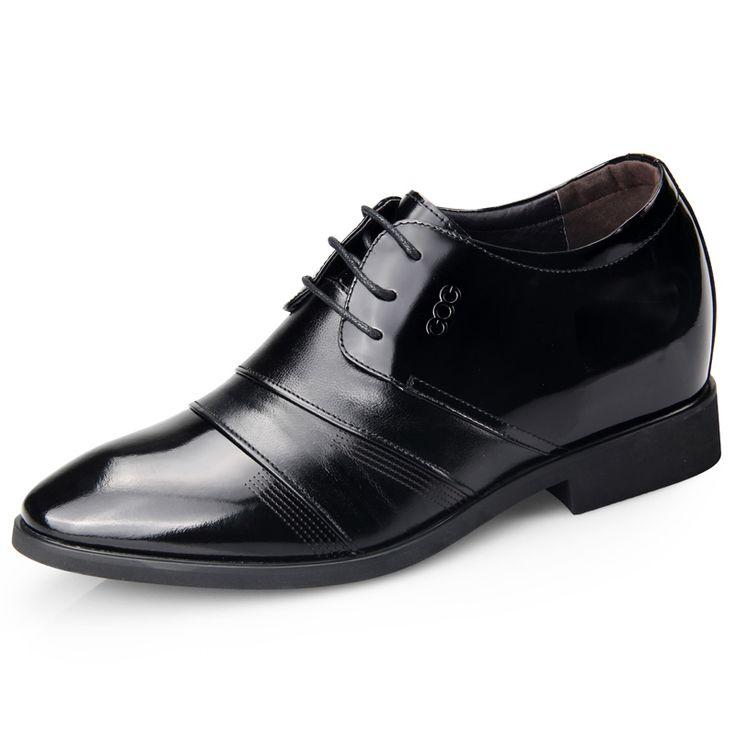 2015 honorable men elevator tuxedo shoes 6.5cm / 2.56inch taller formal wedding shoes
