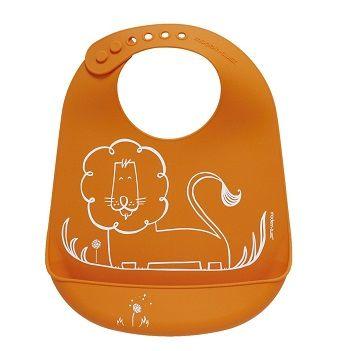 Dandy Lion Bib Orange $39.95 #sweetcreations #baby #toddlers #kids #feeding #feedme