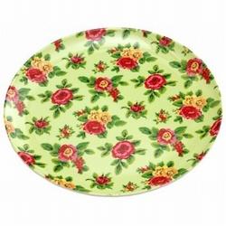 Melamine Bord Bloemen Groen 20cm
