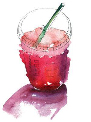 Starbucks green ice tea sketch