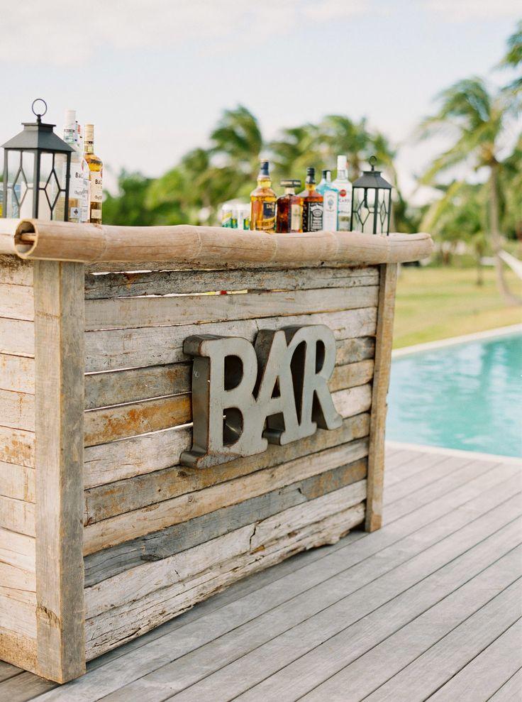 Rustic bar decor | Photography: Hunter Ryan