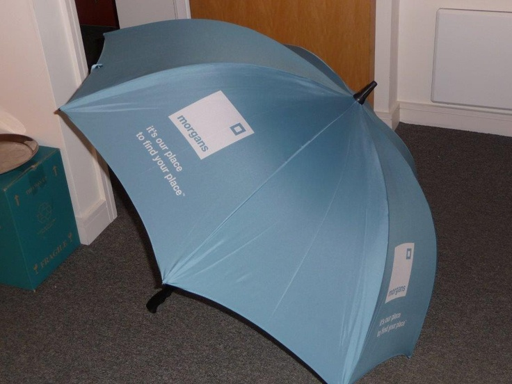 Umbrella Printing, Pantone Matched for our client Morgans Living.
