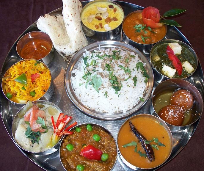 thali from india - incredibly delicious and i miss these meals