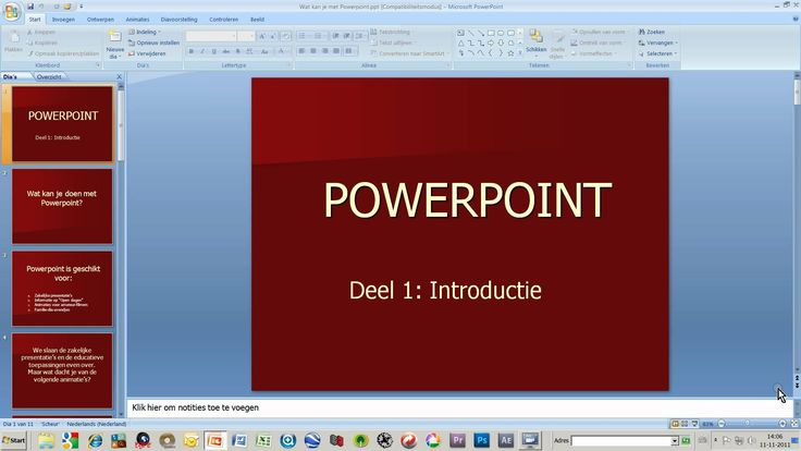Cursus Powerpoint deel 1: introduktie
