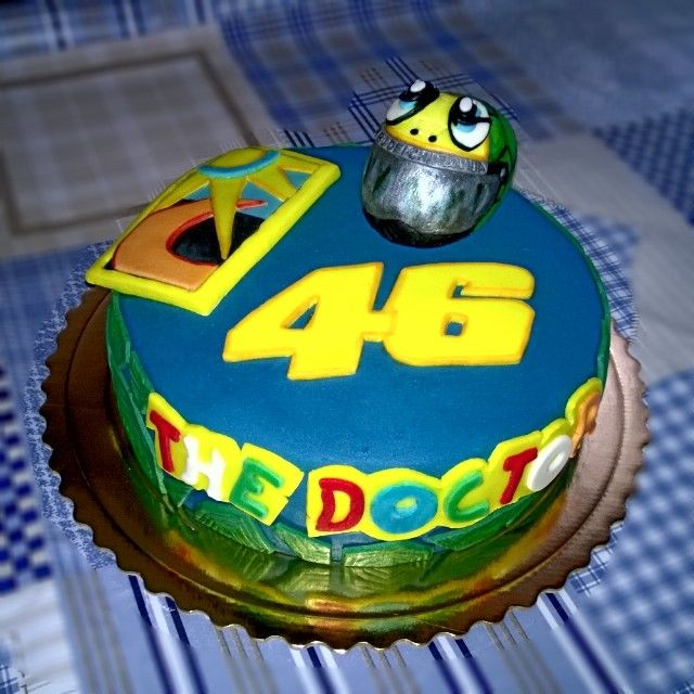 Birthday Cake Valentino Rossi Turtle 46 Valentino