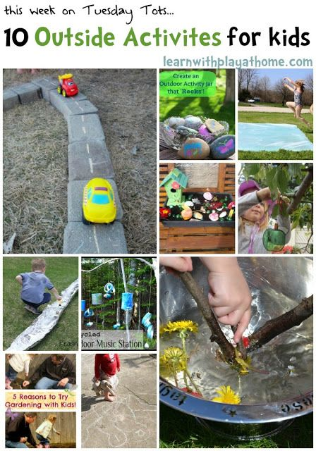 Learn with Play at home: 10 Outside Activities for Kids