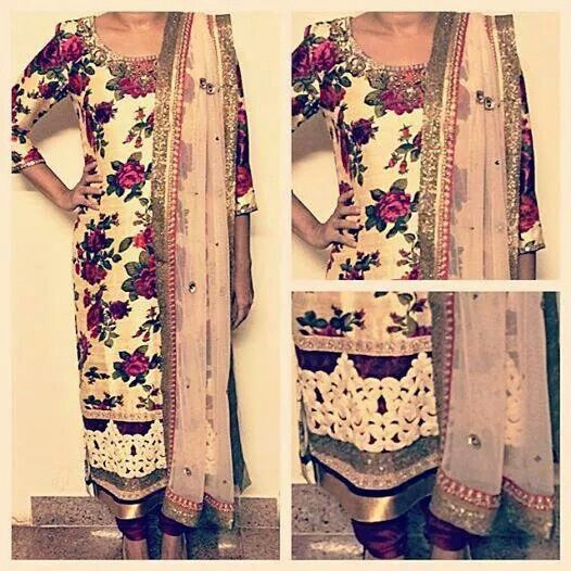 Floral suit for a summers tale Visit Shefali's Studio on facebook, custom made for you at a wholesale price