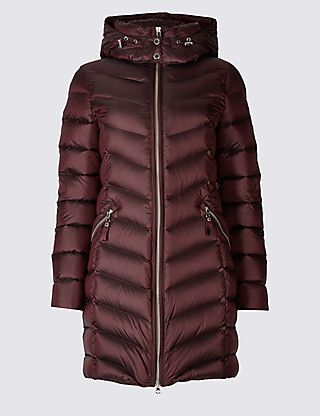Down & Feather Padded Jacket with Stormwear™ | M&S