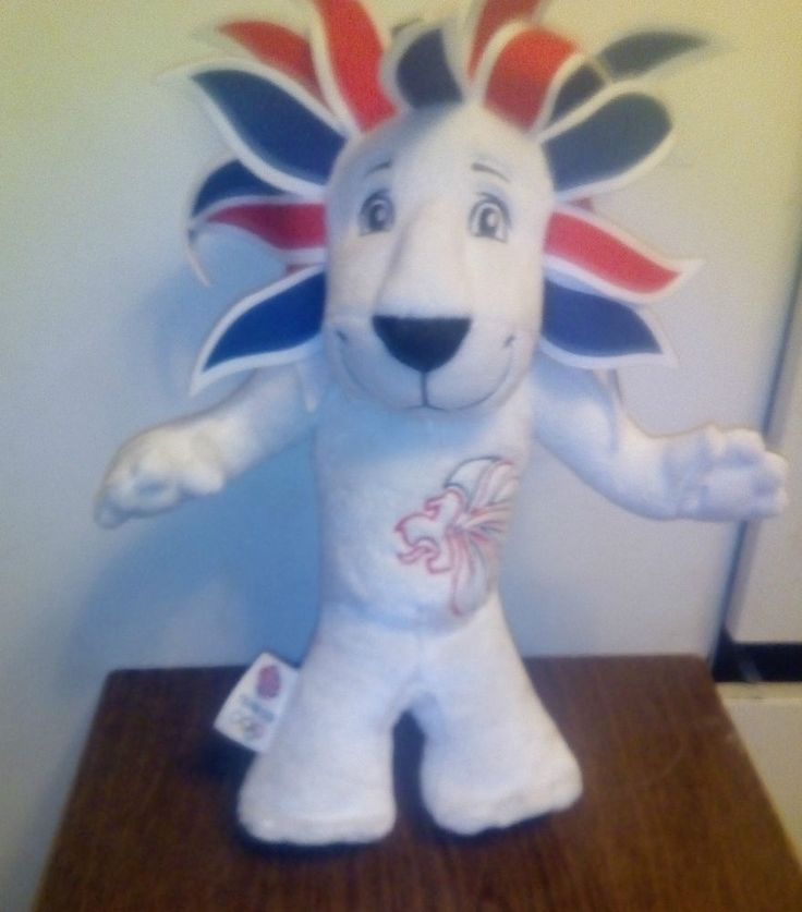 Olympics Team GB Pride the Lion Plush Soft Toy