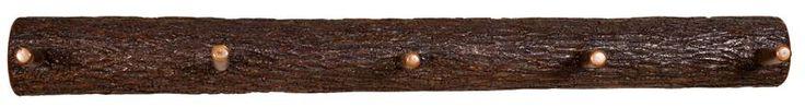 Amish Rustic Split Log Coat Rack