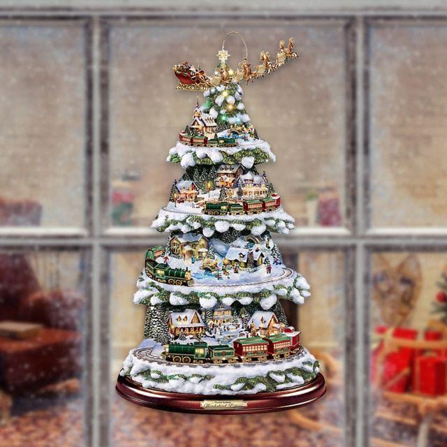 Paintings Wonderland Express Christmas Tree In 2020 Unique Christmas Decorations Christmas Tree Train Christmas Tree