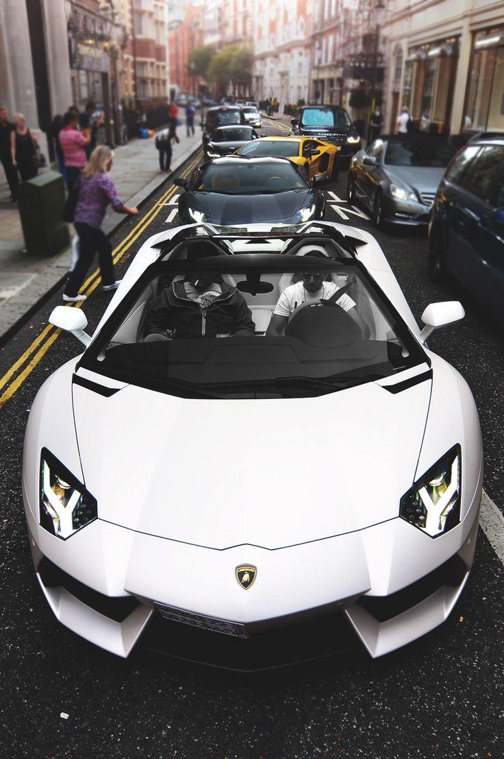 "onlysupercars: "" Roadster "" Lamborghini Aventador LP700-4 Roadster Lamborghini Aventador LP700-4 Coupe *2 Audi R8 Coupe Mercedes-Benz E-Class Cabriolet Land-Rover..."