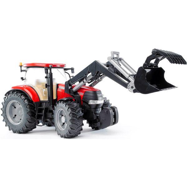 Bruder Трактор Case CVX 230 с погрузчиком  Трактор Bruder Case CVX 230 с погрузчиком   Особенности:    Cоздан в масштабе 1 к 16, поэтому идеально совместим с иными машинками, автомобилями и спец. техникой Брудер соответствующей серии.   Трактор оснащен дополнительным рулем с приводом, который позволяет регулировать поворот колес.   Специальная подвеска передней оси облегчает преодоление сложных препятствий.  Двери и капот открываются.   Прорезиненные колеса не оставляют следов на разных…