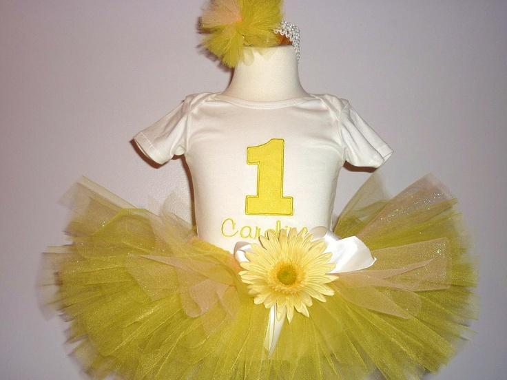 You are my sunshine first birthday tutu by Pretty4yourPrincess, $42.00