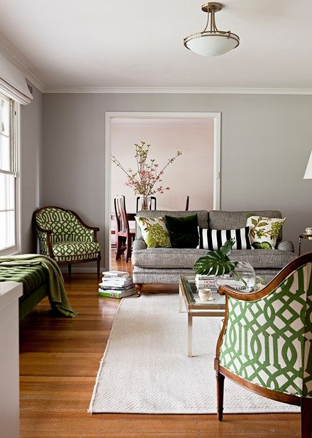Clever fabric choices give this living room standout style - Home Beautiful