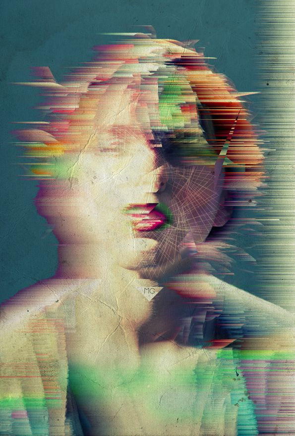 Distorsion identitaire #design #glitch