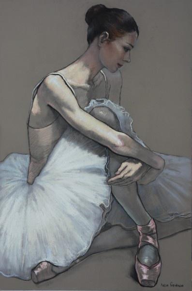 Katya Gridneva, Dancer (pastels)
