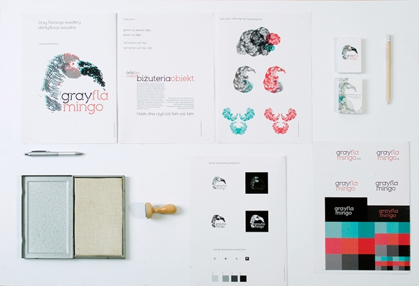 Gray Flamingo ID by Studio Baklazan Basia Barbarja Lukasik, via Behance