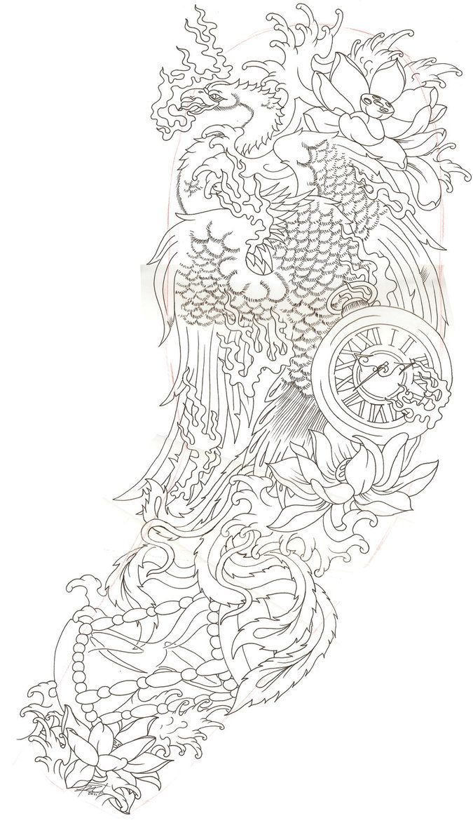 Japanese phoenix 2 by Dude-Skinz-Tattooing