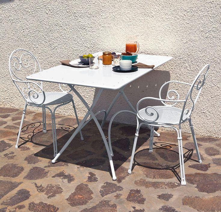 Tavolo Rettangolare Pieghevole 120x76 - Tavolo Rettangolare Pieghevole - Pigalle Emu | Arredamento Da Esterno