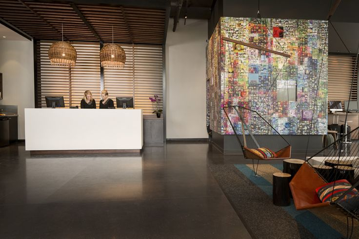 LEMAYMICHAUD | ALT | MONTREAL | Architecture | Design | Hospitality | Hotel | Lobby | Reception | Griffintown | Mural | Hammock